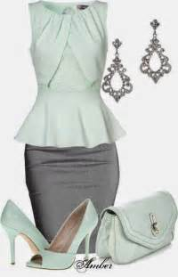 Grey Pencil Skirt Outfits