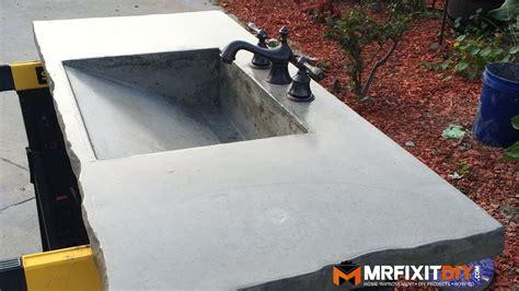 concrete bathroom sink diy diy concrete sink part 2 of 2 youtube