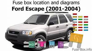 Fuse Box Location And Diagrams  Ford Escape  2001-2004