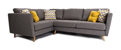 Corner Settees For Sale by Clara Pewter Corner Sofa Left Facing