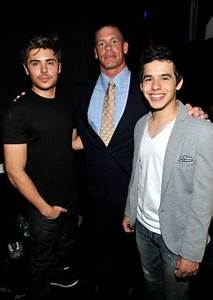 s David Archuleta With Zac Efron & John Cena And