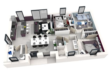 Plan D Une Maison En 3d Plan Maison Interieur 3d
