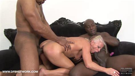 Two Huge Black Cocks For Slutty Mature Blonde Slut Inez In