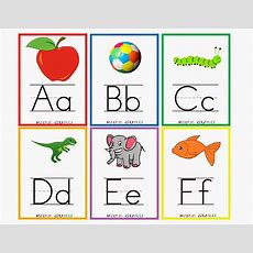 Kindergarten Worksheets Printable Worksheets  Alphabet Flash Cards 1