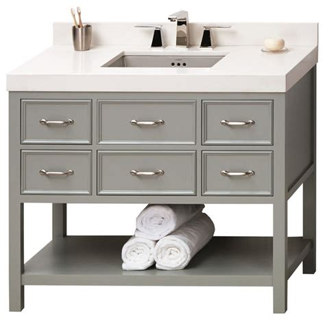 ronbow newcastle solid wood 42 quot vanity set with ceramic
