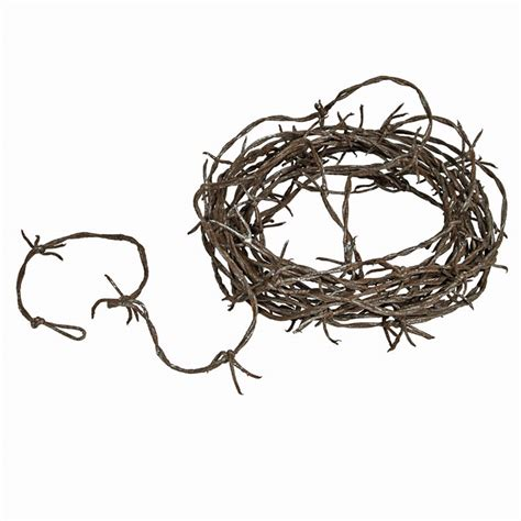 12 foot simulated rusty barbed wire garland country