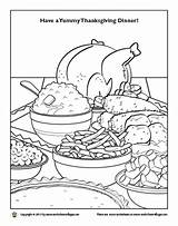 Coloring Thanksgiving Feast Dinner Designlooter Template Sketches sketch template