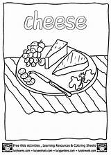 Cheese Coloring Pages Printable Printables Plate Sheets Books Colouring Blank Pizza Getcoloringpages Lucy Mac Macaroni Colorear Para Activities Template Mouse sketch template