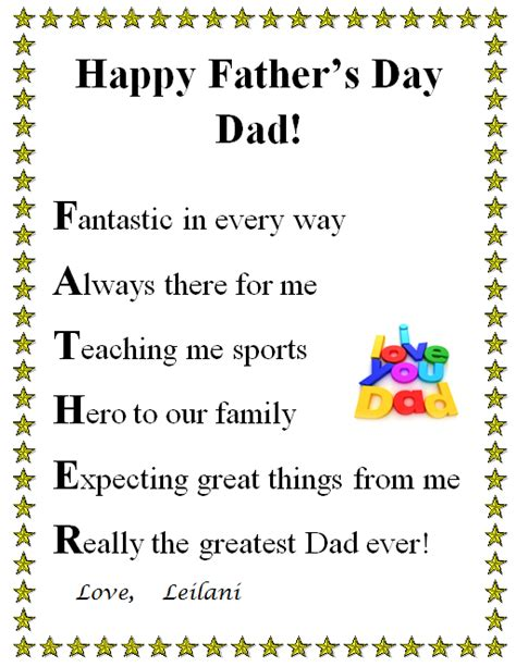 fathers day poems fathers day 2015 poems and quotes