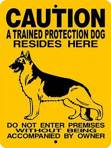 GERMAN SHEPHERD Dog Sign 9x12 Aluminum