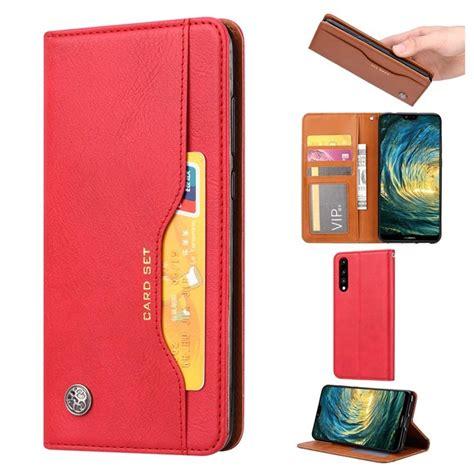 card set series huawei p wallet case red