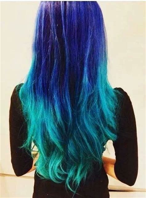 Blue Teal Ombre Beauty~hair Colors Pinterest