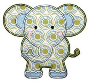 Free Elephant Applique Design