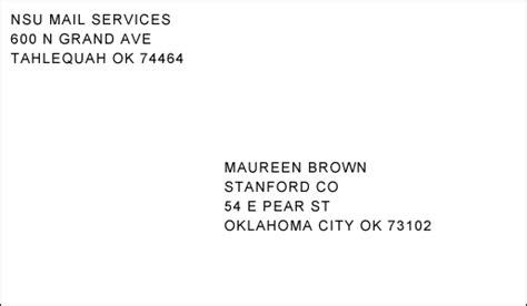 envelope address cains