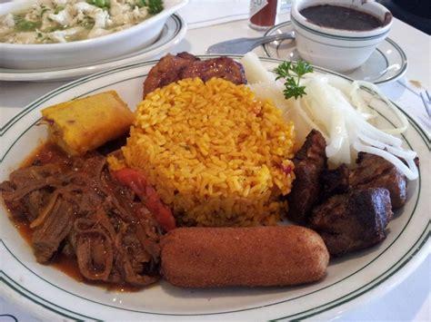 cuisine versailles the criollo rice beans ropa vieja fried pork chunks