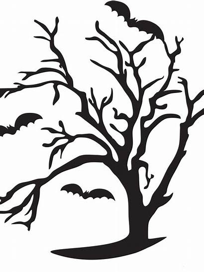 Pumpkin Carving Tree Halloween Spooky Templates Stencil