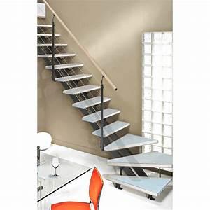 Tableau En Verre Leroy Merlin : escalier quart tournant escatwin structure aluminium ~ Dailycaller-alerts.com Idées de Décoration