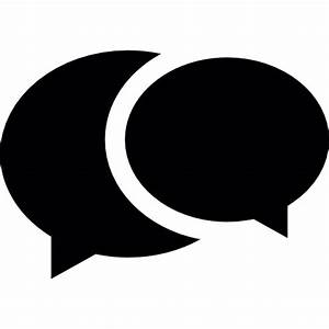 Two overlapping speech bubbles - Free social icons