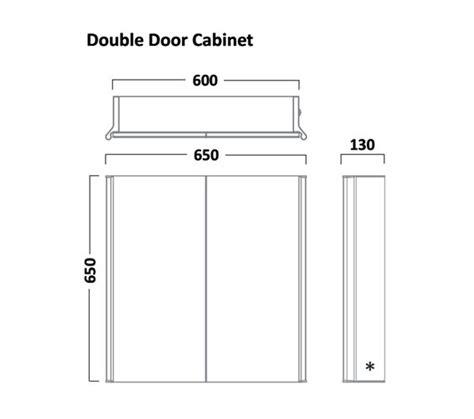 tavistock sleek mm double door mirror cabinet  led