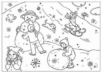 Coloring Winter Fun Pages