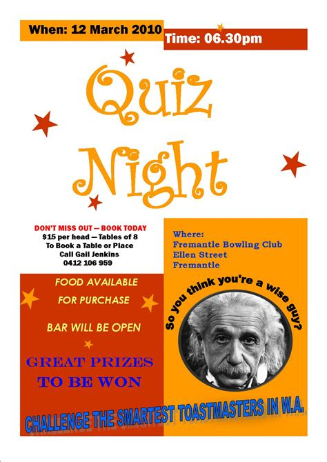 Quiz Night Flyer Template Picture Pictures