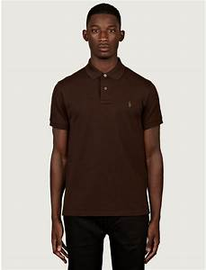 Polo Ralph Lauren Mens Slim Fit Polo Shirt in Brown for ...