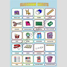 Classroom Objects  Esl Worksheet By Sandytita