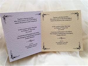 ritz wedding invitations just gbp110 with free guest name With wedding invitations guest name printing
