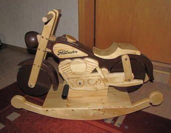 spielzeug selber bauen holz schaukel harley spielzeug kinderzimmer kinder roller schaukelpferd harley kinderfahrzeug