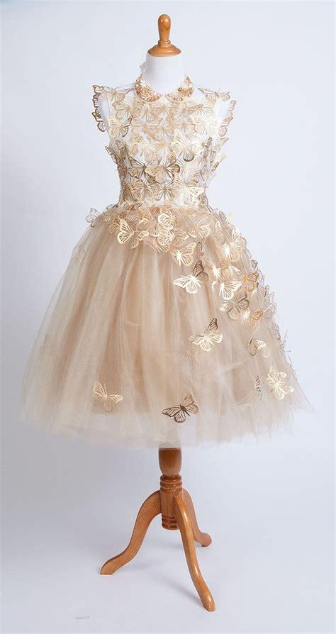 gold tulle butterfly dress    cricut