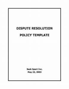 Fillable online dispute resolution policy templatedoc for Dispute resolution policy template