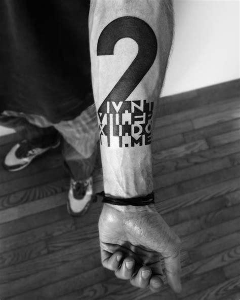 Number tattoo by Ben Volt