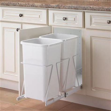 Cabinet Trash Can Pull Out by Knape Vogt 19 In H X 11 In W 23 In D Steel In