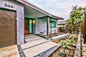 multi level garage landscape contemporary with wood