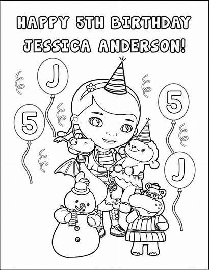 Doc Mcstuffins Coloring Games Birthday Activity Mcstuffin