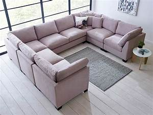 Isabelle u shape sectional living it up for U shaped sectional sofas uk