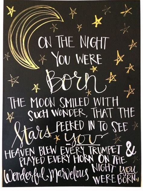 On The Night You Were Born Quote Print Nancy Tillman By