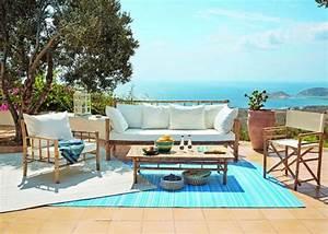 salon de jardin plein d39idees pour faire le bon choix With tapis exterieur avec canapé miami