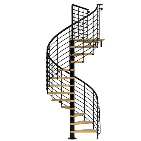arke oak70 xtra 63 in black spiral staircase kit k26127