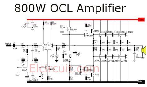 Watt Power Amplifier Ocl Audio Schematic Stereo