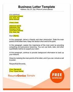 Sample, Business, Letter, Format