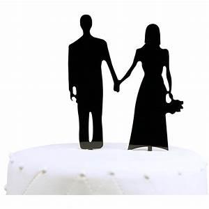Unik Occasions Wedding Couple Silhouette Acrylic Cake ...