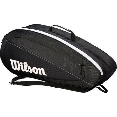 wilson federer team  racket bag blackwhite tennisnutscom