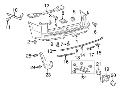 Genuine Oem Bumper Components Rear Parts For