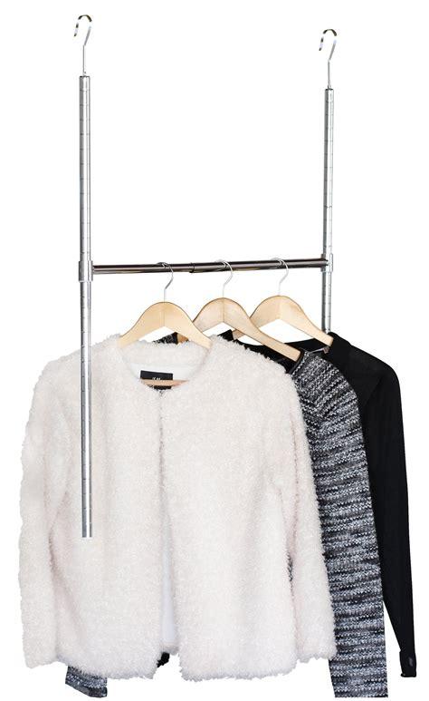 decobros adjustable hanging closet rod chrome ebay