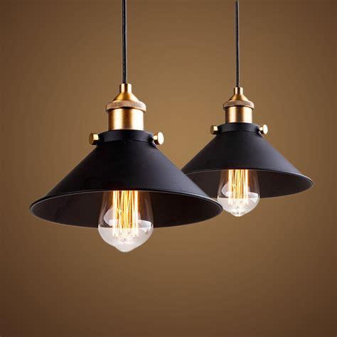 retro shop lights vintage industrial pendant lights iron loft style light