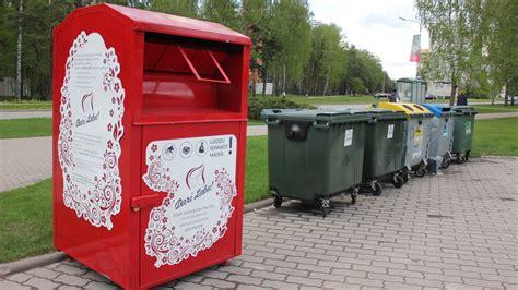 Arī Olainē novietots konteiners labdarības ziedojumiem ...