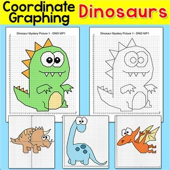 dinosaurs coordinate graphing ordered pairs mystery