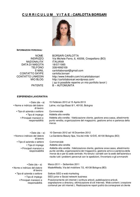 Curriculum Vitae Carlotta Borsari. General Cover Letter For Bookkeeper Position. Sample Letterhead For Resume Cover Letter. Cover Letter For Receptionist Hair Salon. Curriculum Vitae Download Model Romana. Job Resume Job Objective. Cover Letter Examples Business Development. Letter Template Regarding Line. Resume Help How Many Years Back