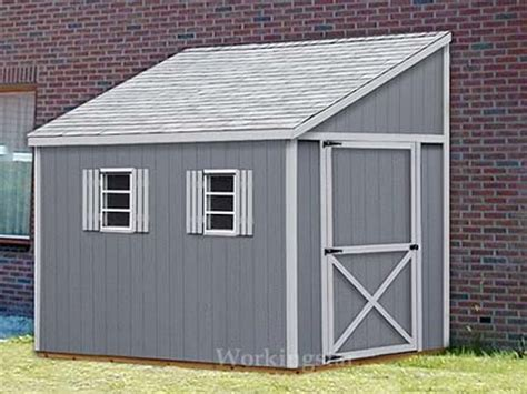 6 x 12 lean to roof storage shed blue prints project